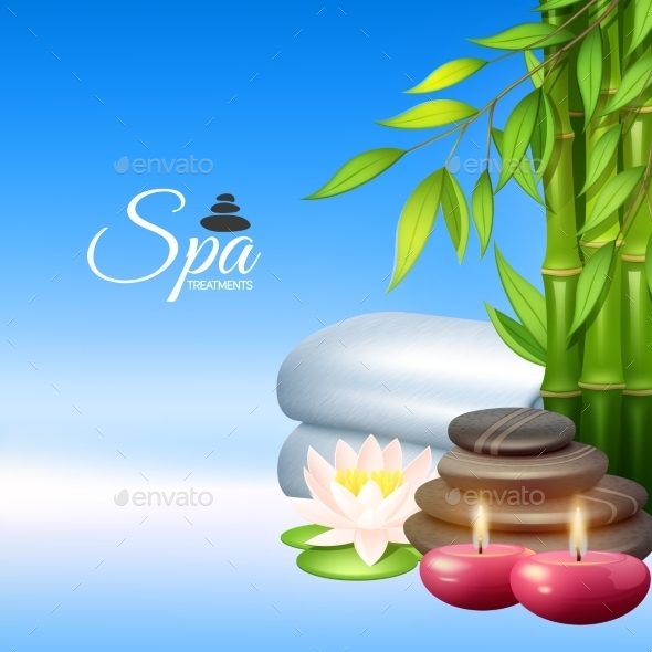 Spa Background Illustration - Health/Medicine Conceptual