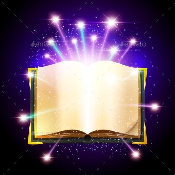 Magic Book Illustration - Miscellaneous Vectors