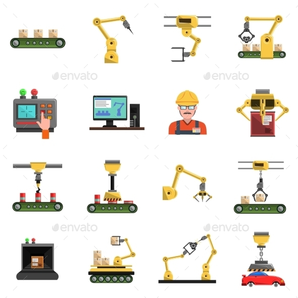 Robot Icons Set - Technology Icons