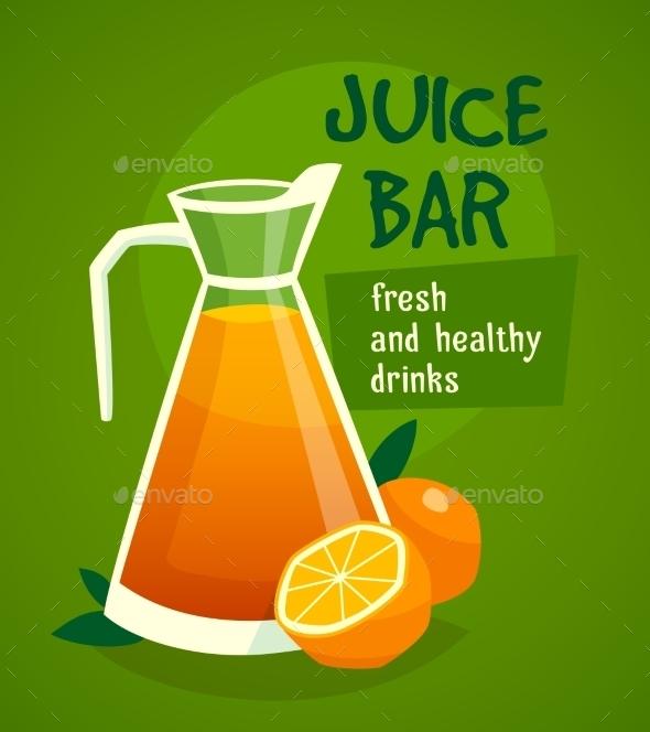 Orange  Juice Design  Concept - Food Objects