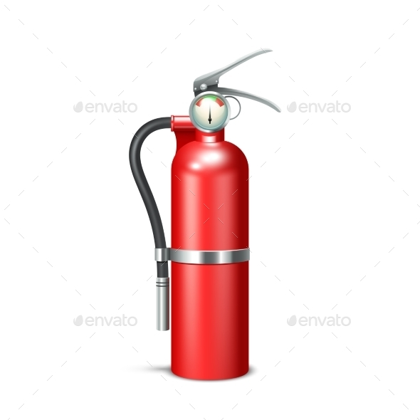 Fire Extinguisher Isolated - Objects Vectors