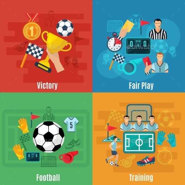 Soccer Flat Set - Sports/Activity Conceptual