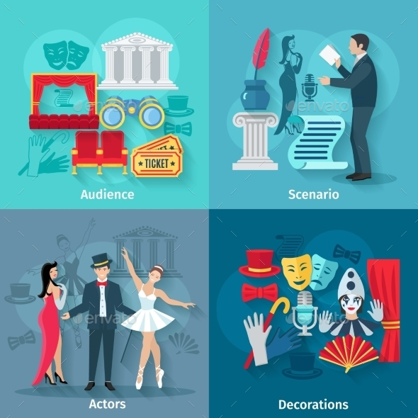 Theater Flat Set - Miscellaneous Vectors