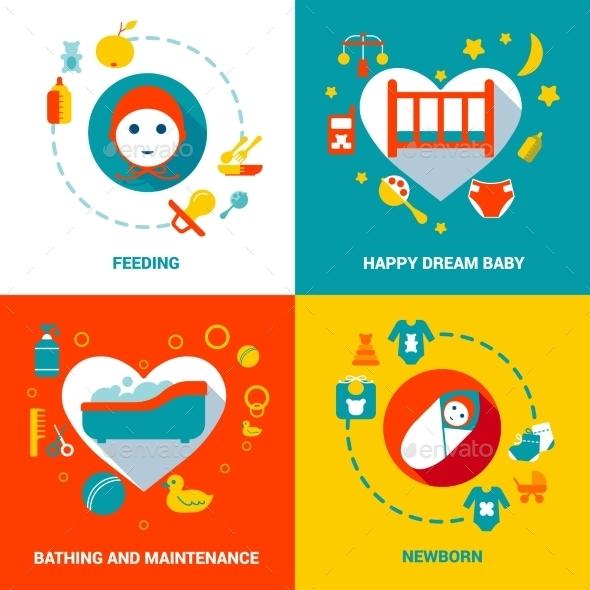 Baby Care Design Concept - Abstract Conceptual