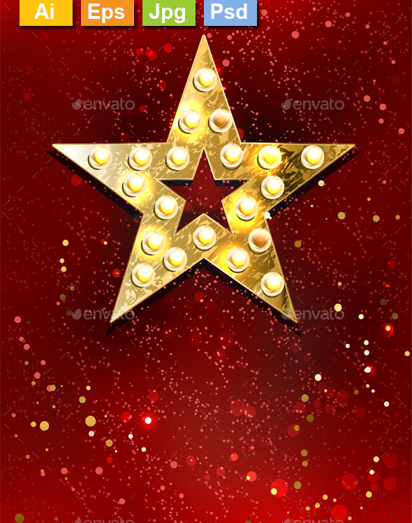 Star with Lights - Decorative Symbols Decorative