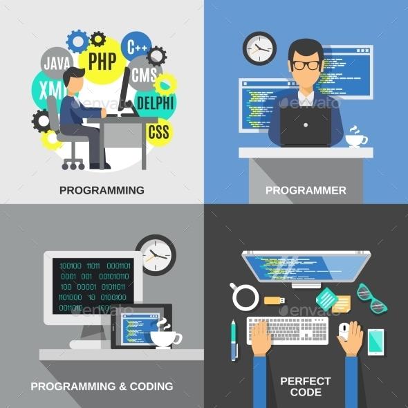 Programmer Flat Set - Computers Technology