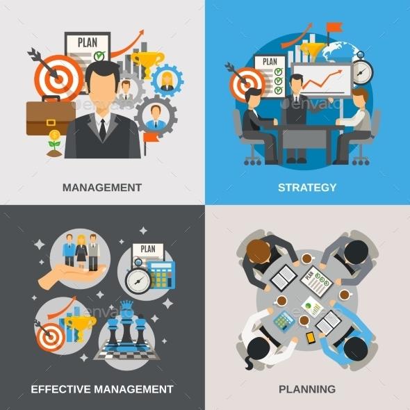 Management Flat Set - Business Conceptual