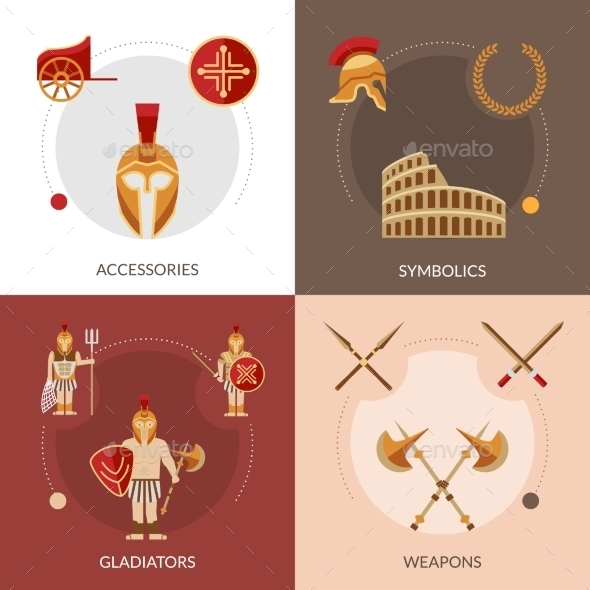 Gladiator Flat Set - Miscellaneous Vectors