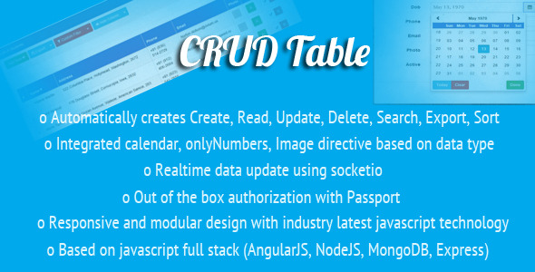 AngularJS CRUD Table Directive - CodeCanyon Item for Sale