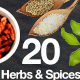 20 Isolated Food Images - Herbs and Spices - GraphicRiver Item for Sale