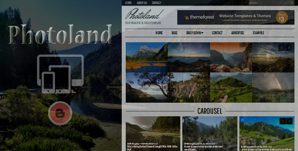 Photoland Magazine Blogger Template
