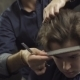 Hairdresser Combing Hair At Barbershop - VideoHive Item for Sale