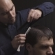 Professional Haircut With Razor At The Beauty - VideoHive Item for Sale