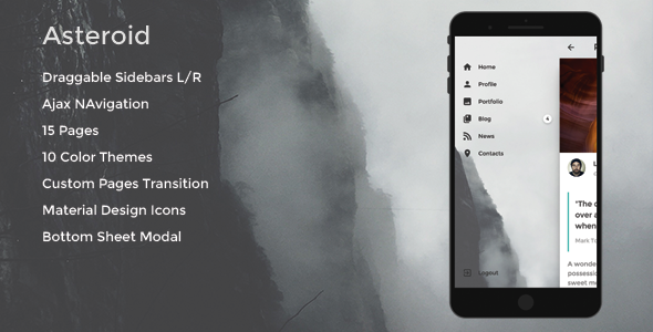 Asteroid – Mobile & App Template
