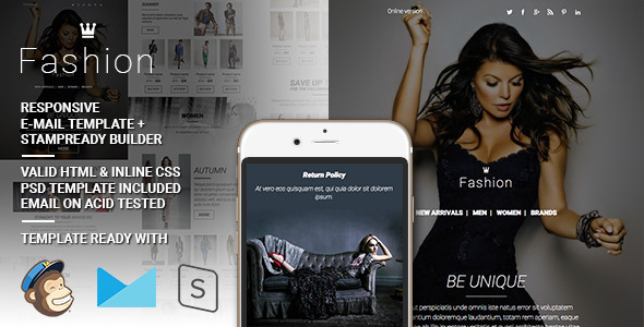 Fashion – Responsive Email + StampReady Builder