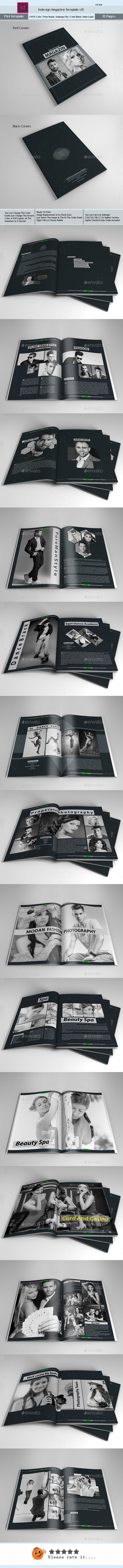 Indesign Magazine Template V01  - Magazines Print Templates