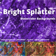 Bright Splatter Watercolor Backgrounds