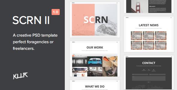 SCRN II - Creative PSD Template - Creative PSD Templates