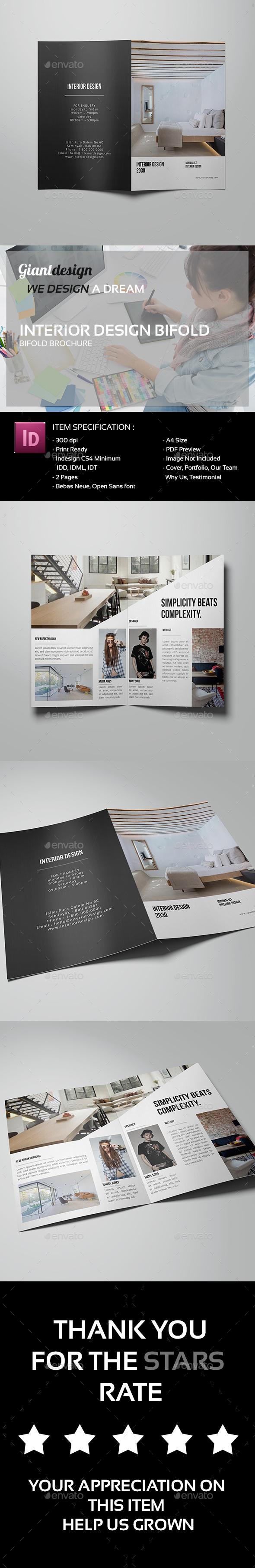 Interior Design Bifold Brochure - Corporate Brochures