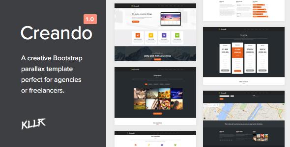 Creando - Creative Onepage Parallax HTML Template - Portfolio Creative