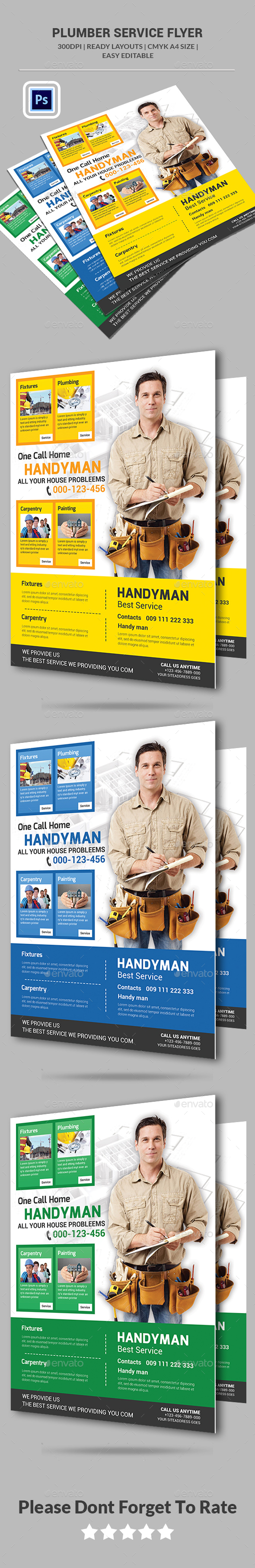 Plumber Service Flyer Templates  - Corporate Flyers