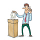 Man are Voting in Elections - GraphicRiver Item for Sale