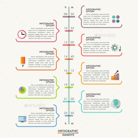 Minimal Timeline Template - Infographics