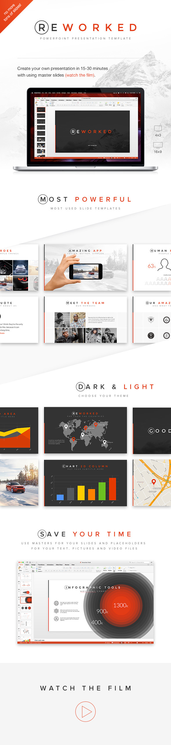 Reworked PowerPoint Presentation Template - Business PowerPoint Templates