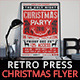 Retro Press Christmas Flyer Invitation - GraphicRiver Item for Sale