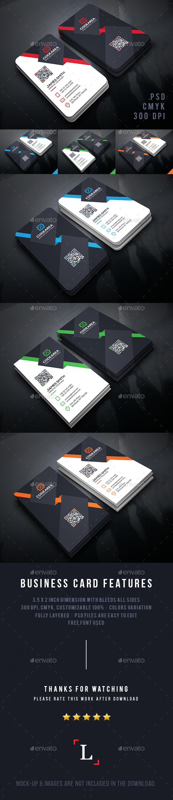 Elegant Vertical Business Cards by UXcred | GraphicRiver