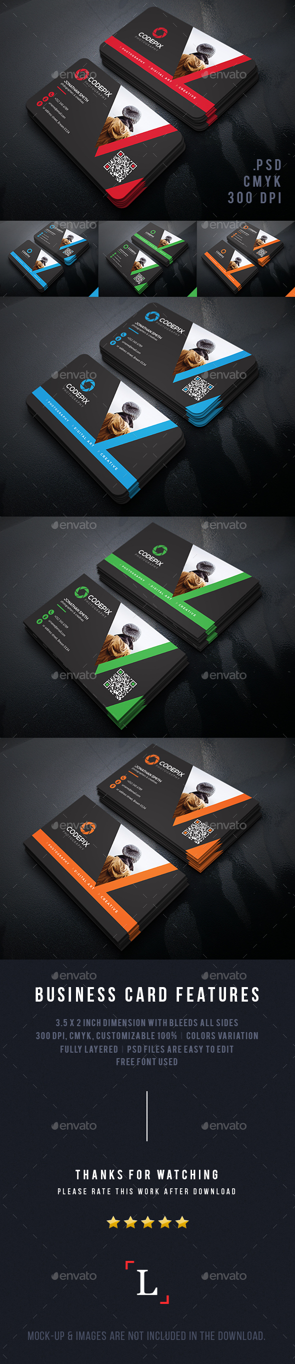 Personal Photography Business Cards - Business Cards Print Templates