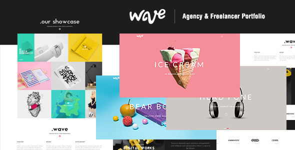 Wave | Agency & Freelancer Portfolio-Muse Template - Creative Muse Templates