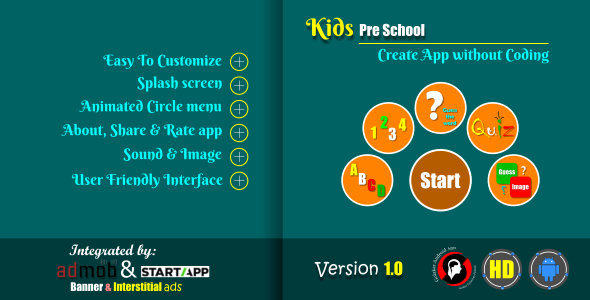 Kids Pre-School Educational app - CodeCanyon Item for Sale