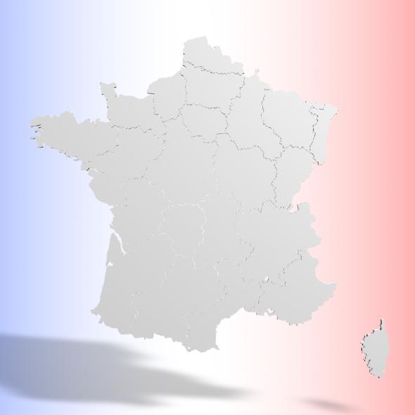 FRANCE 3D MAP - 3DOcean Item for Sale