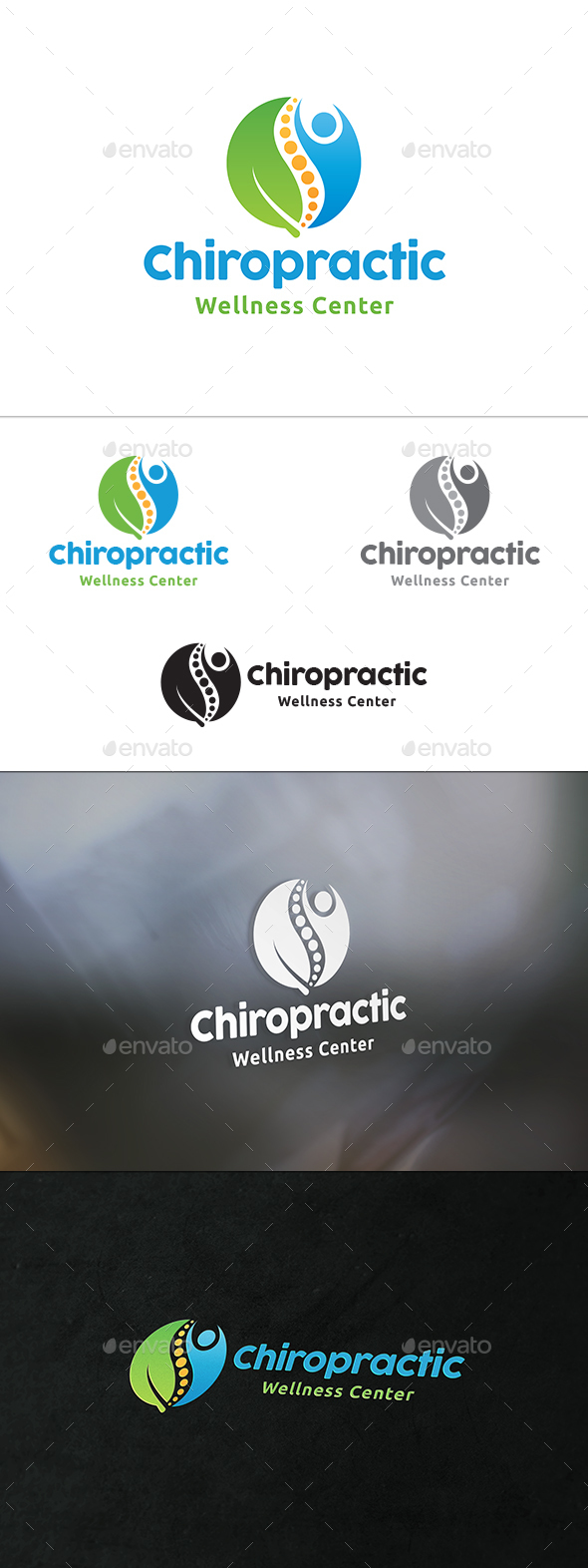 Chiropractic Logo - Humans Logo Templates