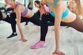 Fit and healthy women in a fitness class