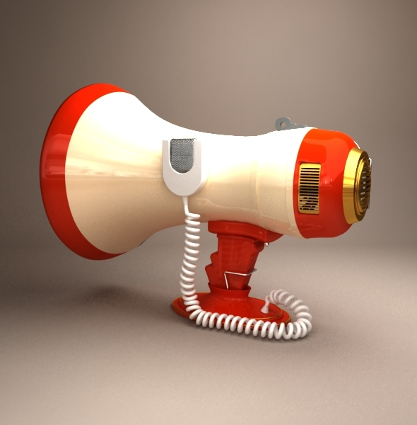 Megaphone - 3DOcean Item for Sale