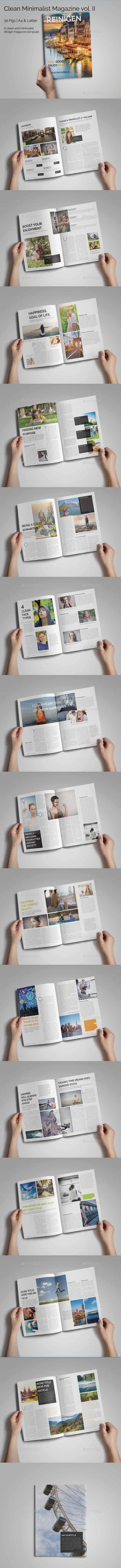 Clean Minimalist Magazine Template II - Magazines Print Templates