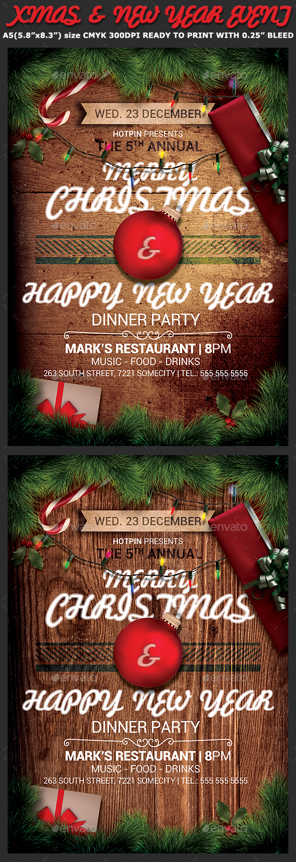 Christmas Event Flyer Template - Holidays Events