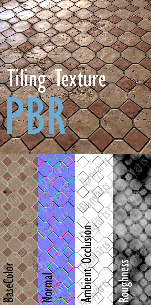 Tiling Texture PBR - 3DOcean Item for Sale