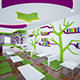 3d interior of coffee shop in japanese style - 3DOcean Item for Sale