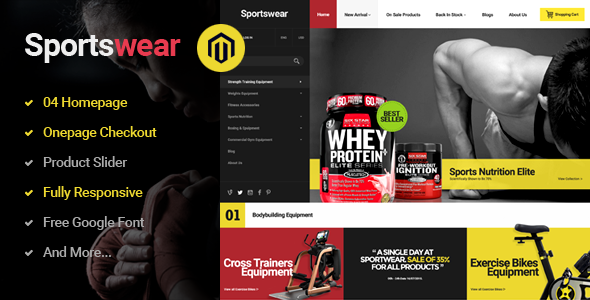 Sportwear - Multi Purpose Responsive Magento Theme - Shopping Magento