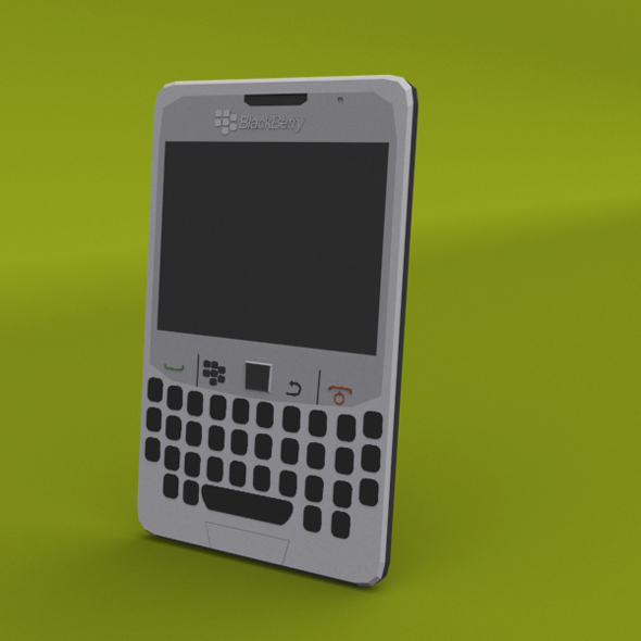 BlackBerry curve low poly 3D model - 3DOcean Item for Sale