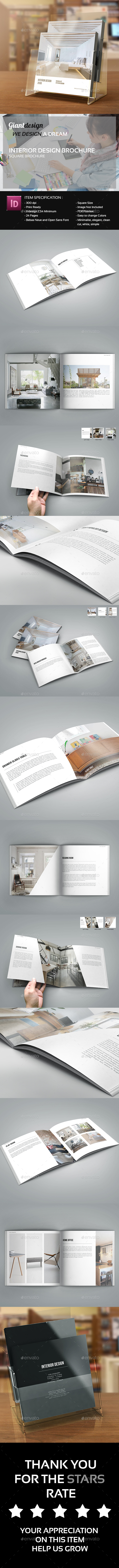 Interior Design - Square Brochure Catalog - Corporate Brochures