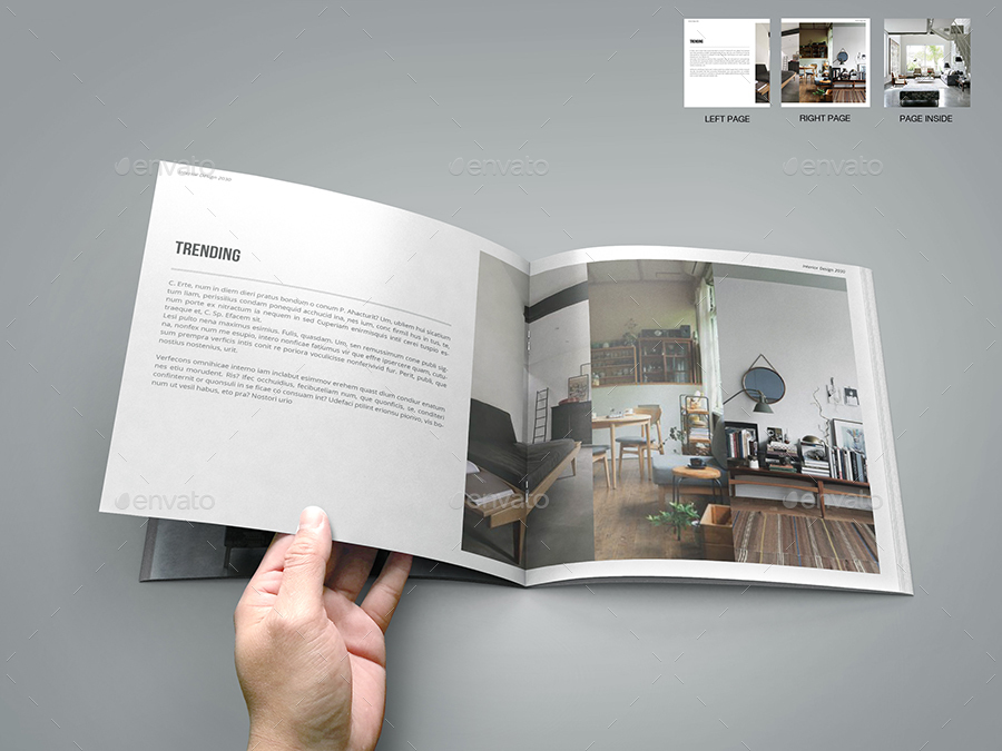 Interior Design Square Brochure Catalog