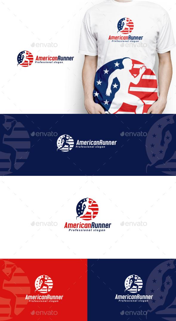 American Runner Logo - Humans Logo Templates