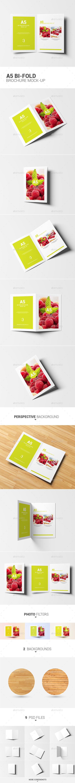 A5 Bi-fold Brochure Mock-Up - Brochures Print