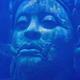 Head Of Ancient Diety Statue Underwater - VideoHive Item for Sale