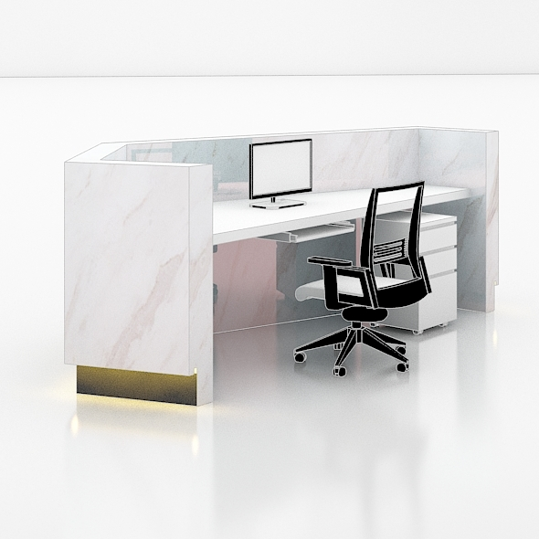 Office Reception counter  - 3DOcean Item for Sale