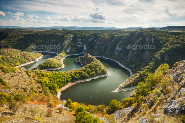 Meander on river - Stock Photo - Images